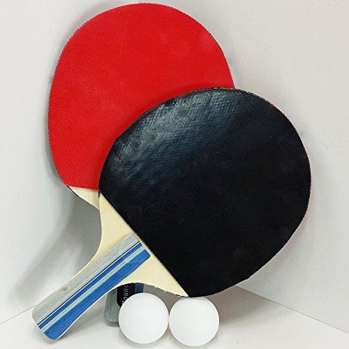 Farbig Ping-pong-bälle (Tischtennis SET 5 Teilig, 2 Schläger, 2 Bälle, 1 Tasche, Tisch Tennis Ping Pong Set (LHS))
