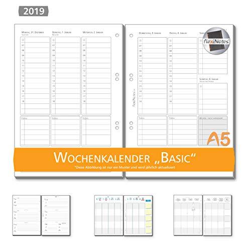 Calendario Scrivibile.Flexinotes Calendario 2019 A5 Inserto Calendario Lingua