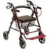 Andador rollator y silla de ruedas para ancianos 2 en 1