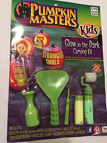Pumpkin Masters America's Favorite Kids Glow in the Dark Carving Kit Now with Stronger Tools by Pumpkin Masters (Pumpkin Masters)