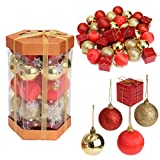 Generic 24PCS Glitter Baubles Shatterproof Ball Christmas Tree Decoration Xmas Ornament