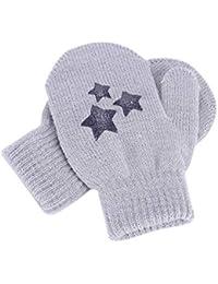 Moufles Gants Enfant Hiver Épaisses Gants de Protection Anti-griffures Gants  en Tricot Laine Gloves 285620e87b7