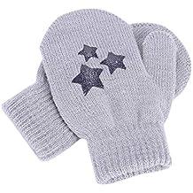 Moufles Gants Enfant Hiver Épaisses Gants de Protection Anti-griffures  Gants en Tricot Laine Gloves f6931af8760