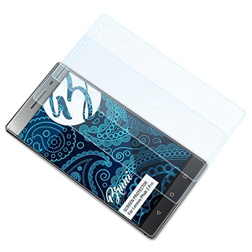 Bruni Schutzfolie für Lenovo Phab 2 Pro Folie, glasklare Bildschirmschutzfolie (2X)