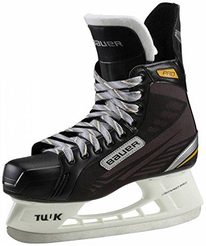 Bauer Kinder Eishockeyschuhe Complete Supreme Pro Senior Schlittschuhe, Schwarz/Gelb, 5