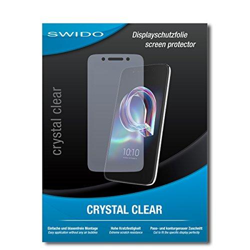SWIDO Bildschirmschutz für Alcatel Idol 5 [4 Stück] Kristall-Klar, Hoher Härtegrad, Schutz vor Öl, Staub & Kratzer/Schutzfolie, Bildschirmschutzfolie, Panzerglas Folie