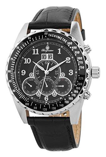 Burgmeister Armbanduhr für Herren mit Analog Anzeige, Automatik-Uhr und Lederarmband - Wasserdichte Herrenuhr mit zeitlosem, schickem Design - klassische Uhr für Männer - BM302a-122 Amsterdam