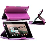 Navitech Faux Leather Case Cover For The Acer Iconia A1 810 7.9 Inch (multi stand case, Purple)