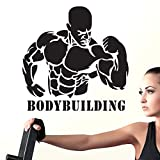 zaosan Haltères Gymnase Nom Autocollant Fille Fitness Crossfit Decal Body-Building Posters Vinyle Stickers Muraux Décoration Murale Gym Autocollant 51x51cm