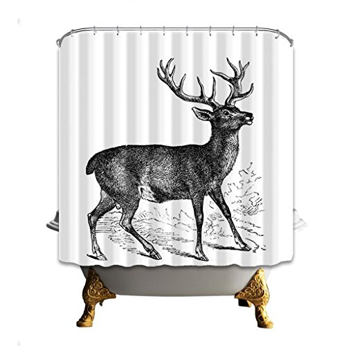 Bathroom Accessories Mould Proof Curtains Shower CurtainsWaterproof Creative Polyester 3D Digital Printing Patterns Partition