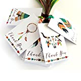 Adorebynat Party Decorations - EU boho tribali grazie, tags - Nozze sposa Baby Shower regali di compleanno Tribe Party - Set 24