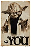 Poster Star Wars - Yoda May The Force - preiswertes Plakat, XXL Wandposter