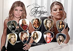 Fergie Signed Autograph Guitar Pick Display (Limited to 500 Prints)