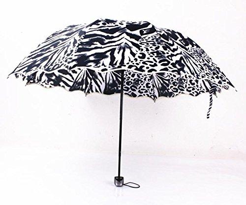 X&L Welle Zebra Leopard Tier Bogen Gong Zhusan Sonnenschirm Regenschirm , markings