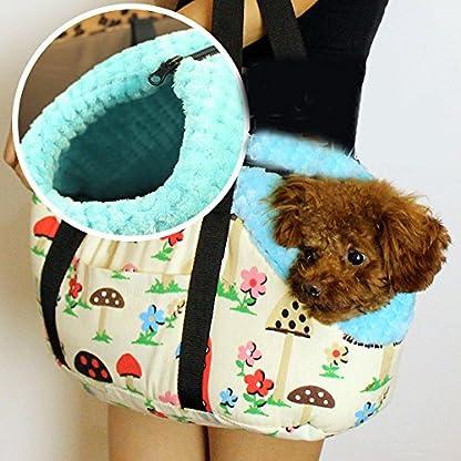 Efanr Portable Warm Pet Carrier Handbag with Zipper Small Medium Pet Dog Puppy Cat Travel Outdoor Carrier Printed Bag… 3