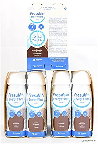 12x 200ml Fresubin Energy Fibre DRINK Schokolade - im exclusiven ConsuMed Bundle
