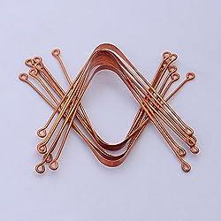 HealthAndYoga(TM) Copper Tongue Cleaners - 12 Pieces Set