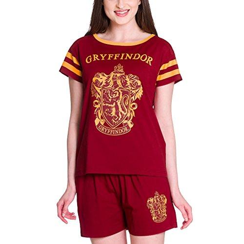 HARRY POTTER Pijama Pijamas de Las Mujeres Gryffindor de algodón Rojo Elbenwald - M