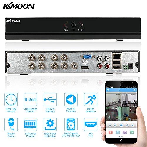 KKmoon Grabador digital 8canales 960H D1CCTV Red DVR H.264HDMI Seguimiento de la seguridad de reproducción de vídeo