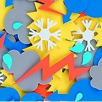 CI L-FV8758 Foam Weather Shapes Sticker (60-Piece)