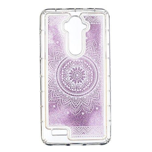 Cozy Hut ZTE Z986 Glitzer Hülle, Treibsand 3D Shiny Transparent Back Cover Glitzer Handyhülle Skin Schale Beschützer Haut Case für ZTE Z986 - Weiße Mandala