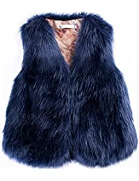 Per Manteau sans Manche Fausse Fourrure Gilet Femme Hiver Veste Fourrure  Femme sans Manche Faux Fur 43442334d93c