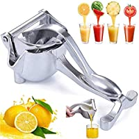 Stainless Steel Manual Juicer- Detachable & Easy Clean, Alloy Fruit Hand Squeezer- Adjustable, Heavy Duty Fruit Press Squeezer for Lemon Orange Pomegranate Etc
