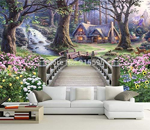 YOOMAY Fantasy Wonderland 3D Stereoscopic Europäischen TV Hintergrund Tapete Schlafzimmer Wohnzimmer Benutzerdefinierte Große Landschaft Wandbild Tapete @ 300x210_cm_ (118.1_by_82.7_in) _