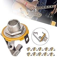 Sue-Supply 10 UNIDS Guitarra Eléctrica Bajo Salida Jack Conector de Instrumento Musical Enchufe Cable Enchufes