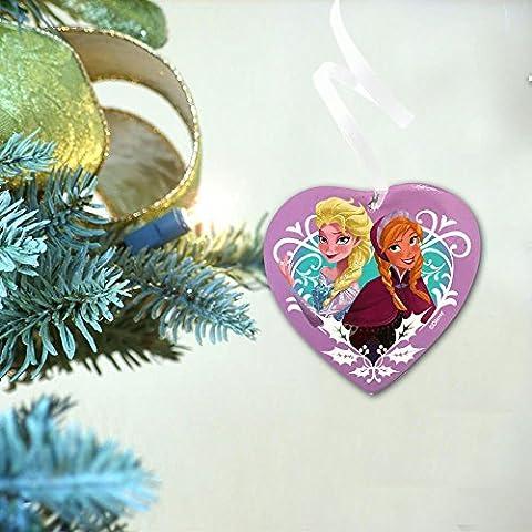 Disney Frozen in ceramica cuore per appendere su albero di Natale o a parete - Disney Wall Hanging