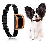 MASBRILL Anti Bell Halsband für Kleine und mittelgroße Hunde Vibration ohne Schock Harmlos 7 verstellbare Stufen hundeerziehung Halsband (M, Orange)