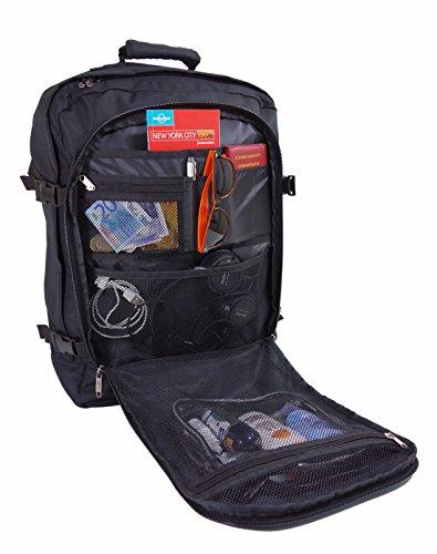 Cabin Max Metz Flugzugelassenes Backpack Groß leichtgewicht Handgepäckstück 55x40x20cm Schwarz
