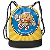 PmseK Turnbeutel Sportbeutel Kordelzug Rucksack, Hamburger Fast Food Multifunctional Bundle Backpack...