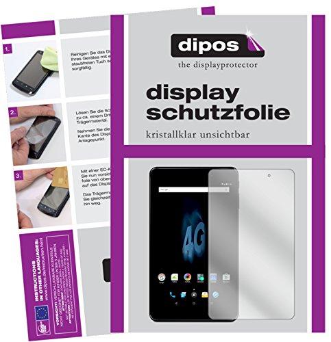 dipos I 2X Schutzfolie klar passend für Allview Viva H802 LTE Folie Bildschirmschutzfolie