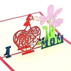 Idea Regalo - Medigy 3D Pop Up biglietto d' auguri per mamma/Thanks Giving Day/Christmas day/New Year, ecc.