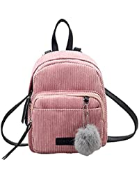 LuckES Bolsa de mujer,La moda de las mujeres mini mochila PU cuero de la Universidad bandolera mochila de la escuela de señoras niñas bolsa de viaje casual