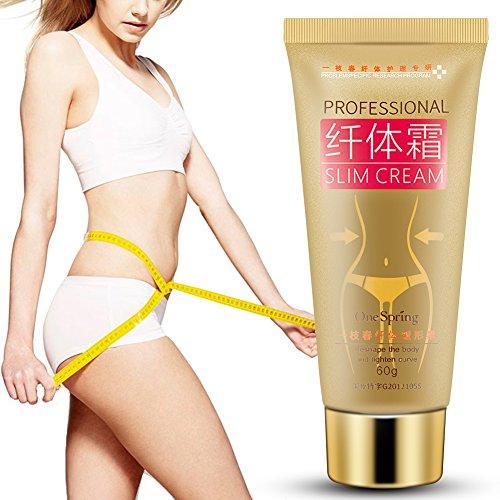 Anti Cellulite Creme, Frauen Fett Brennendes Gewicht, das den Körper abnimmt Cellulite Anziehende Anti Cellulite dünne Massage...