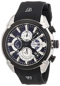 Festina F6819/2 - Reloj de pulsera con cronógrafo para hombre (mecanismo de cuarzo, esfera azul y correa de caucho negro) de Festina