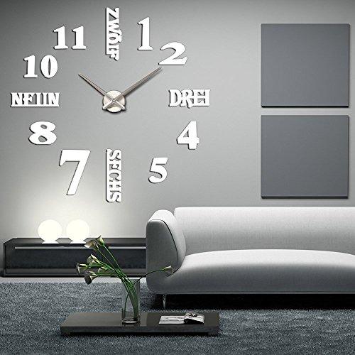 DIY 3D Wanduhren Modern Design Acryl Wanduhren Wandtattoo Dekoration fürs Wohnzimmer Kinderzimmer