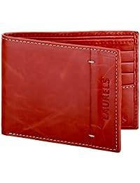 Laurels Horn Red Men's Wallet (Lw-Horn-10)