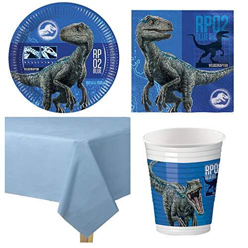 Jurassic World Dinosaurier Kindergeburtstag Party Set - Für 8 Personen