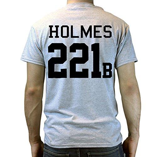 Cumberbatch Sherlock Holmes 221B Football T-shirt Grau