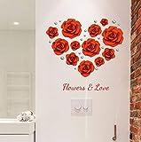 DAIHNZWC Perle Rosen Wandaufkleber Wohnzimmer Schlafzimmer Ehe Zimmer Romantische Dekoration Aufkleber DIY Wandmalereien Selbstklebende