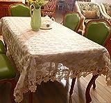 Z&N Le nouveau style européen roses or creux de haute qualité dentelle tissu de table serviette de table de la poussière multi-fonctionnelle lavable en machine nappesA85*85cm
