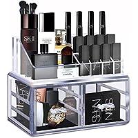 Cozihoma Cosméticos Organizador Acrílico Organizador de Maquillaje Joyería Clara Artículos de tocador Función de Almacenamiento Almacenamiento Cosmético Organizador