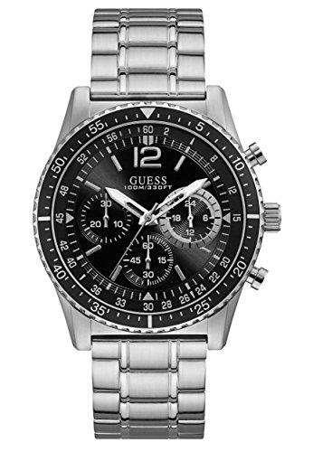 Guess Reloj Cronógrafo para Hombre de Cuarzo con Correa en Acero Inoxidable W1106G1