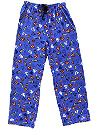 Mens DC Comics Superman Character Cotton Pyjama Bottoms Lounge Wear Pants