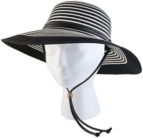 Sloggers–Frauen Breite Krempe geflochten Sun Hat mit Wind Lanyard–UPF 50+ Die Maximale Sonnenschutz (Kirche Krempe Hat)