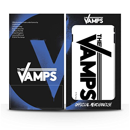 Officiel The Vamps Coque / Brillant Robuste Antichoc Etui pour Apple iPhone 6 / Pack 6pcs Design / The Vamps Graffiti Logo Groupe Collection Blanc/Noir