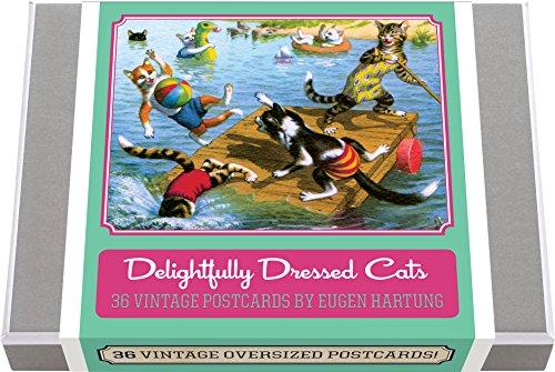 Delightfully Dressed Cats Postcard Box - 36 Unique Vintage Postcards: Feline Frolics by Eugen Hartung (Manuskript Box)
